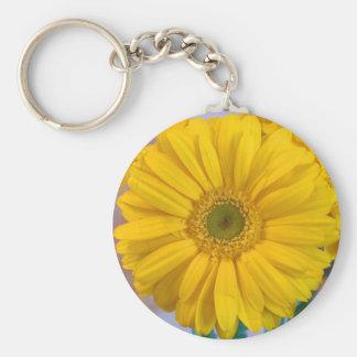 Yellow Gerbera Daisy Keychain