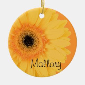 Yellow Gerbera Daisy Ornament
