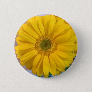 Yellow Gerbera Daisy Pinback Button