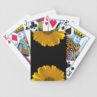 Yellow Gerbera Daisy Bicycle Playing Cards