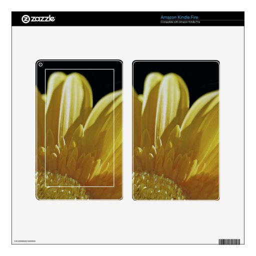 Yellow Gerbera Daisy Skins For Kindle Fire