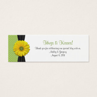 Yellow Gerbera Daisy Special Occasion Favor Tags