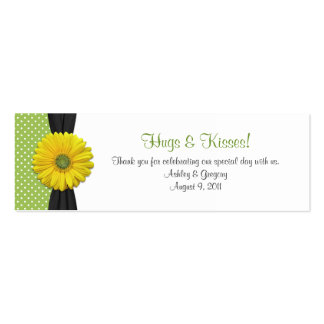 Yellow Gerbera Daisy Special Occasion Favor Tags Mini Business Card