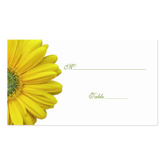 Yellow Gerbera Daisy Special Occasion Place Card Double-Sided Standard Business Cards (Pack Of 100)