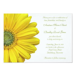 Yellow Gerbera Daisy Wedding Invitation