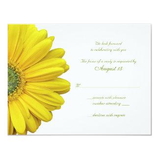 Yellow Gerbera Daisy Wedding Reply Card
