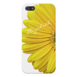 Yellow Gerbera Gerber Daisy Flower iPhone 5 iPhone SE/5/5s Case