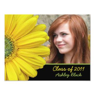 Yellow Gerbera Photo Graduation Invitation