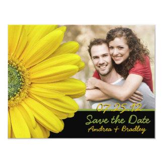 Yellow Gerbera Photo Save the Date Card