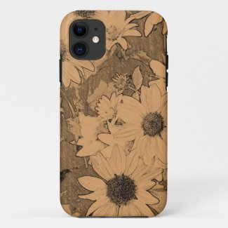 Yellow gerbera sketch 3 iPhone 11 case