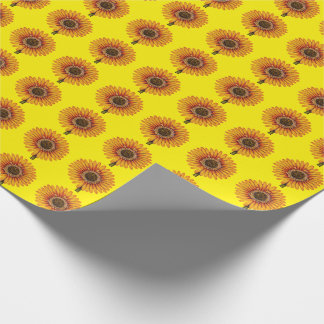Yellow Gerberas Wrapping Paper
