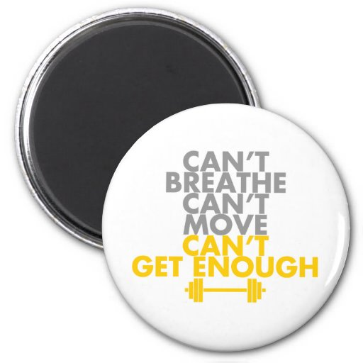 """Yellow """"Get Enough"""" 2 Inch Round Magnet"""
