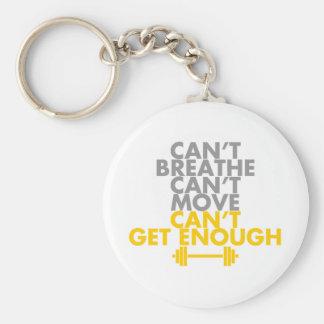 "Yellow ""Get Enough"" Basic Round Button Keychain"
