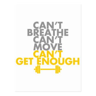 """Yellow """"Get Enough"""" Postcard"""