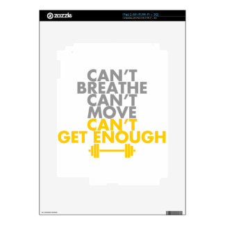 """Yellow """"Get Enough"""" Skins For The iPad 2"""