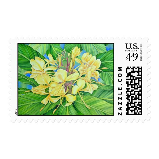 Yellow Ginger Watercolor Postage