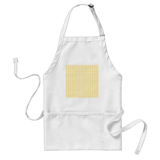 Yellow Gingham Check Pattern. Adult Apron