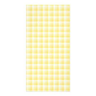 Yellow Gingham Check Pattern. Card