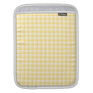Yellow Gingham Check Pattern. Sleeves For iPads