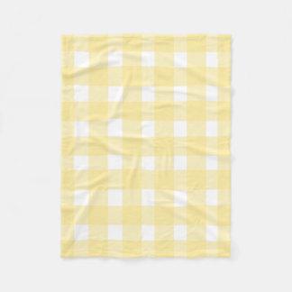 Yellow Gingham Fleece Blanket