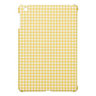 Yellow Gingham iPad Mini Cases