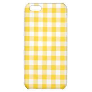 Yellow Gingham Case For iPhone 5C