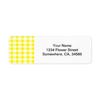 Yellow Gingham Label