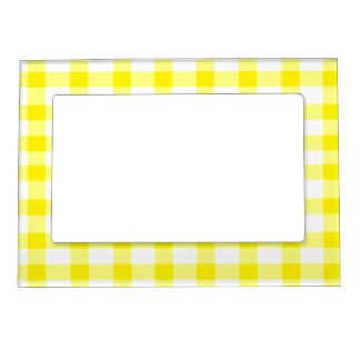 Yellow Gingham Magnetic Frame