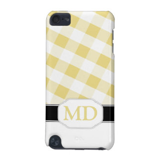 Yellow Gingham Monogram iPod Touch 5G Case