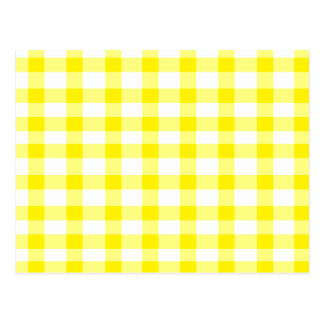 Yellow Gingham Postcard