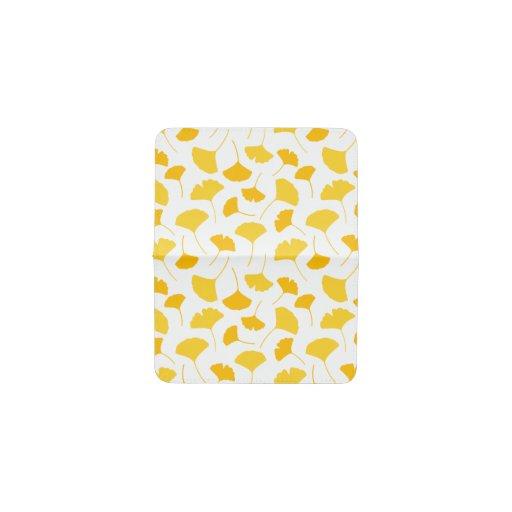 Yellow Ginkgo Leaf Pattern Card Holder