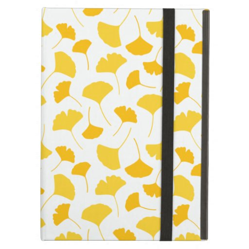 Yellow Ginkgo Leaf Pattern Case For iPad Air