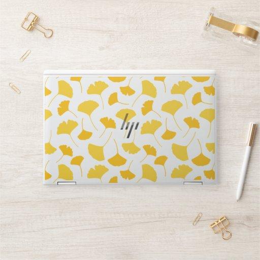 Yellow Ginkgo Leaf Pattern HP Laptop Skin