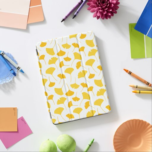 Yellow Ginkgo Leaf Pattern iPad Air Cover