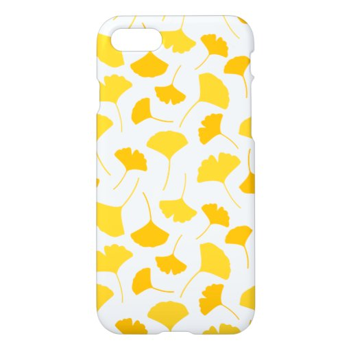 Yellow Ginkgo Leaf Pattern iPhone 8/7 Case