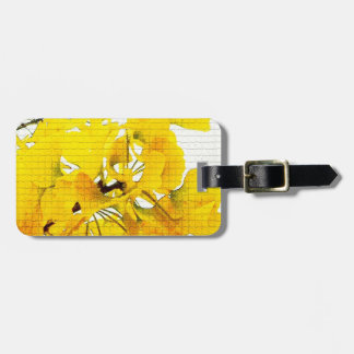Yellow Ginko Leaves Travel Bag Tags