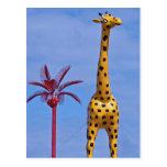 Yellow Giraffe at the Palacio de la Flea Post Cards