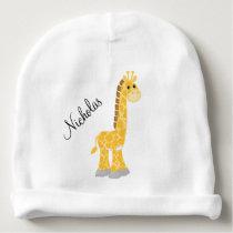 Yellow Giraffe Baby Beanie