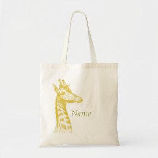 Yellow Giraffe Canvas Bag