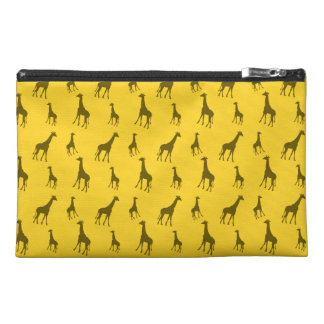 Yellow giraffe pattern travel accessories bags