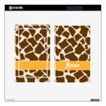Yellow Giraffe Print Kindle Fire Skin