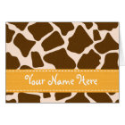 Yellow Giraffe Print Note Cards Personalized