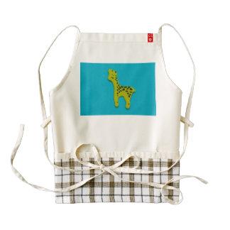Yellow giraffe sticker zazzle HEART apron