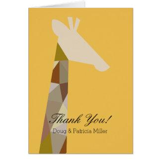 Yellow Giraffe Thank You Stationery Note Card