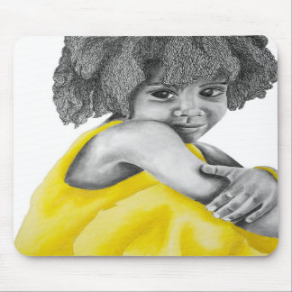 Yellow_Girl_1 Mouse Pads