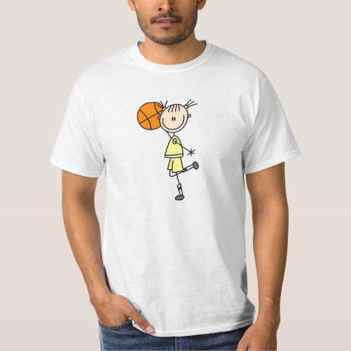 Yellow Girl Basketball Player T-shirts and Gifts
