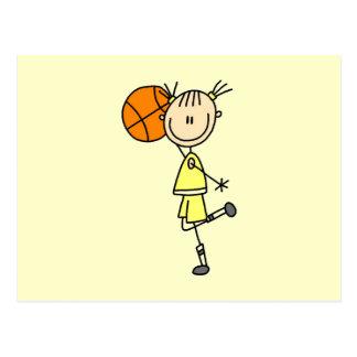 Yellow Girl Basketball Player T-shirts and Gifts Postcard