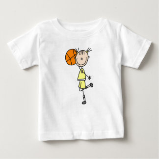 Yellow Girl Basketball Player T-shirts and Gifts