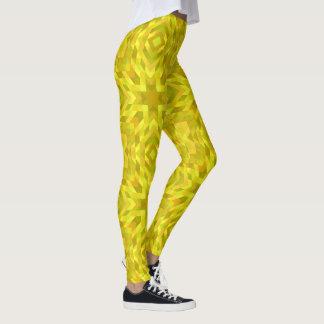 Yellow Girl Pattern Trendy Fashionable Leggings
