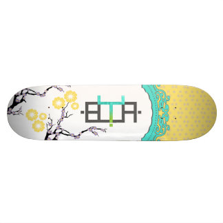 Yellow Girly Booya Skateboard Deck